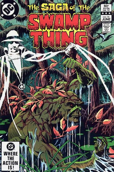 Cover for The Saga of Swamp Thing (DC, 1982 series) #14 [Direct Sales]