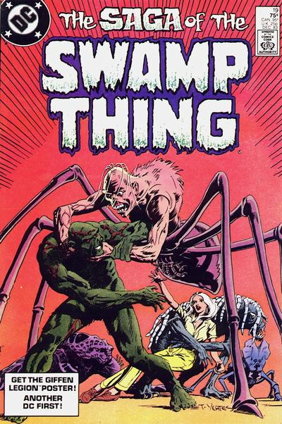 Cover for The Saga of Swamp Thing (DC, 1982 series) #19 [Direct-Sales]