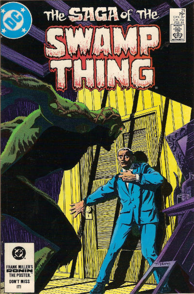 Cover for The Saga of Swamp Thing (DC, 1982 series) #21 [Direct-Sales]