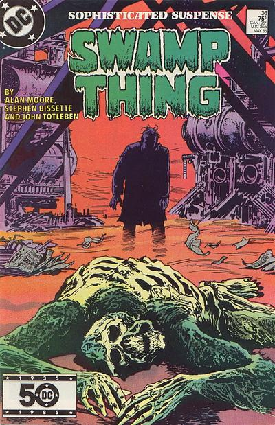 Cover for The Saga of Swamp Thing (DC, 1982 series) #36 [Direct]