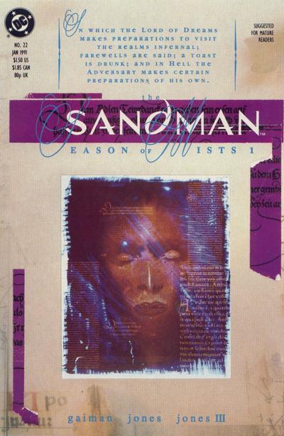 Cover for Sandman (DC, 1989 series) #22