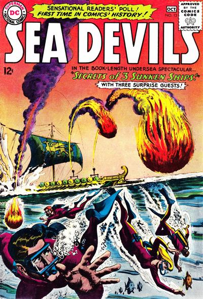 Cover for Sea Devils (DC, 1961 series) #13