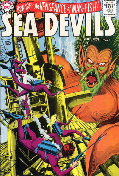 Cover for Sea Devils (DC, 1961 series) #24
