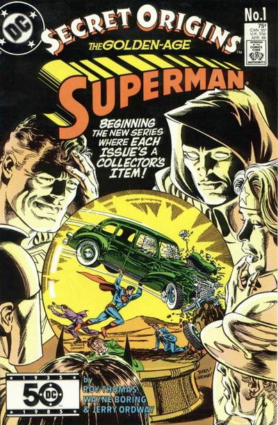 Cover for Secret Origins (DC, 1986 series) #1 [Newsstand]
