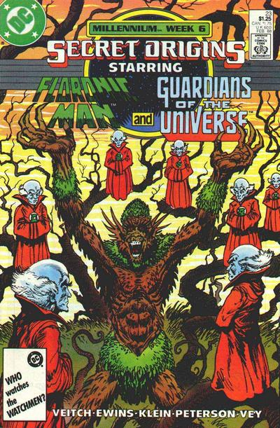 Cover for Secret Origins (DC, 1986 series) #23 [Newsstand]