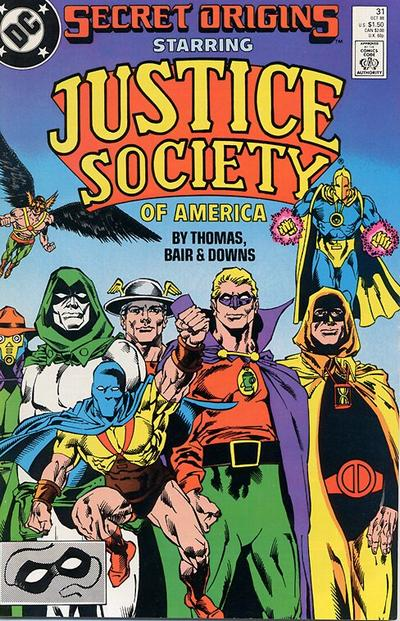 Cover for Secret Origins (DC, 1986 series) #31 [Newsstand]