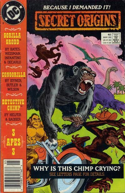 Cover for Secret Origins (DC, 1986 series) #40 [Newsstand]