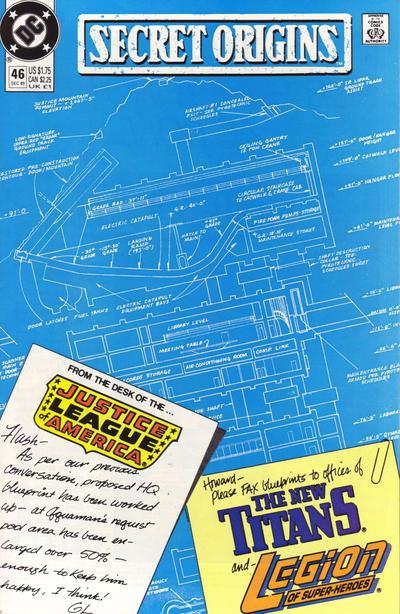 Cover for Secret Origins (DC, 1986 series) #46