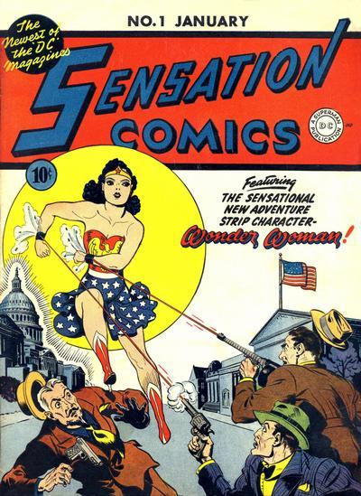 Cover for Sensation Comics (DC, 1942 series) #1