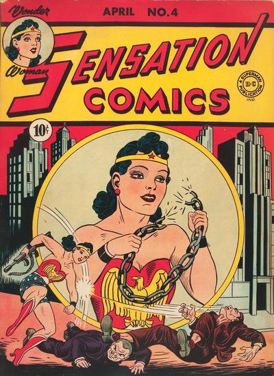 Cover for Sensation Comics (DC, 1942 series) #4