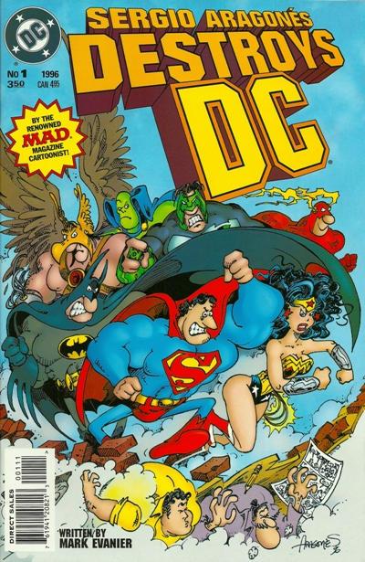 Cover for Sergio Aragonés Destroys DC (DC, 1996 series) #1