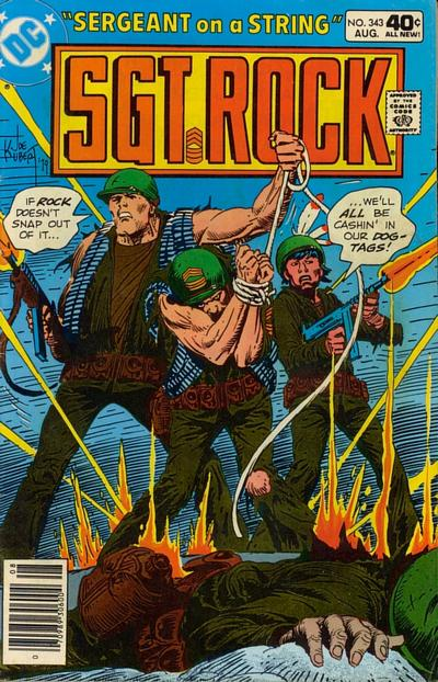 Cover for Sgt. Rock (DC, 1977 series) #343