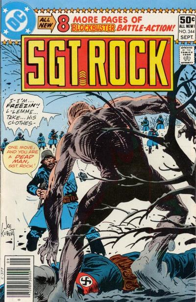Cover for Sgt. Rock (DC, 1977 series) #344