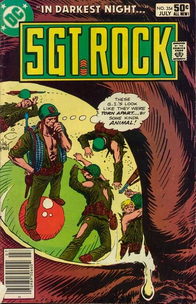 Cover for Sgt. Rock (DC, 1977 series) #354 [Direct]