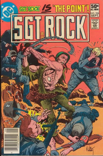 Cover for Sgt. Rock (DC, 1977 series) #356 [Newsstand]
