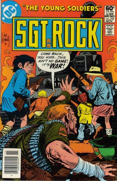 Cover for Sgt. Rock (DC, 1977 series) #358 [Newsstand]