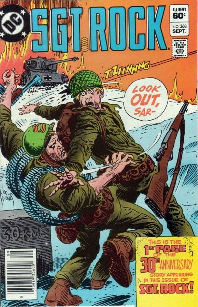 Cover for Sgt. Rock (DC, 1977 series) #368 [Direct]