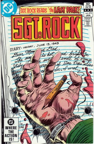 Cover for Sgt. Rock (DC, 1977 series) #372 [Direct]