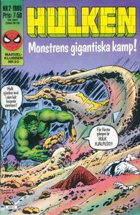 Cover Thumbnail for Hulken (Semic, 1984 series) #2/1985
