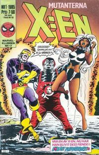 Cover Thumbnail for X:en (Semic, 1984 series) #1/1985