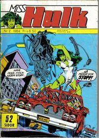 Cover Thumbnail for Miss Hulk (Atlantic Förlags AB, 1982 series) #2/1984