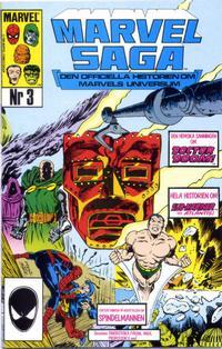 Cover Thumbnail for Marvel Saga (SatellitFörlaget, 1988 series) #3