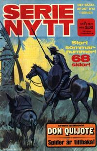 Cover Thumbnail for Serie-nytt [delas?] (Semic, 1970 series) #7/1972