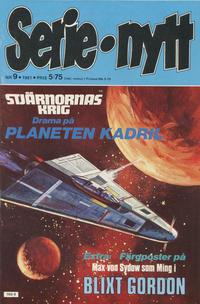 Cover Thumbnail for Serie-nytt [delas?] (Semic, 1970 series) #9/1981