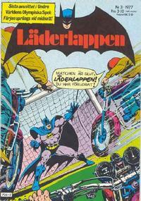 Cover Thumbnail for Läderlappen (Semic, 1976 series) #3/1977