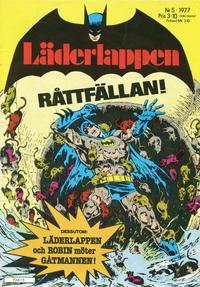 Cover Thumbnail for Läderlappen (Semic, 1976 series) #5/1977