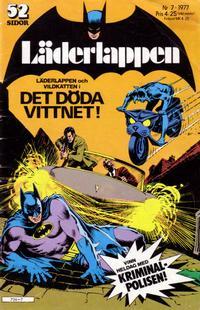 Cover Thumbnail for Läderlappen (Semic, 1976 series) #7/1977