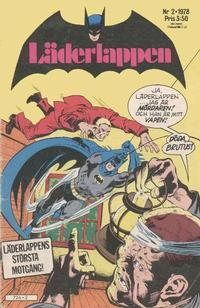 Cover Thumbnail for Läderlappen (Semic, 1976 series) #2/1978