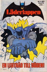 Cover Thumbnail for Läderlappen (Semic, 1976 series) #9/1978