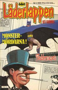 Cover Thumbnail for Läderlappen (Semic, 1976 series) #4/1980