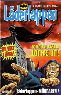 Cover Thumbnail for Läderlappen (Semic, 1976 series) #10/1980