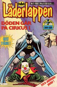 Cover Thumbnail for Läderlappen (Semic, 1976 series) #1/1981