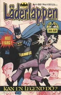 Cover Thumbnail for Läderlappen (Semic, 1976 series) #4/1981