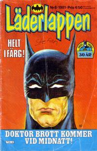 Cover Thumbnail for Läderlappen (Semic, 1976 series) #6/1981