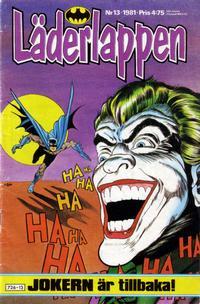 Cover Thumbnail for Läderlappen (Semic, 1976 series) #13/1981