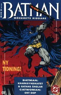 Cover Thumbnail for Batman - Mörkrets riddare (Epix, 1992 series) #2/92 [2/1992]