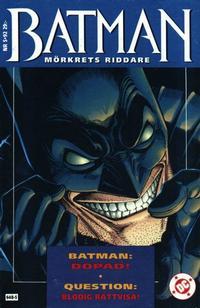 Cover Thumbnail for Batman - Mörkrets riddare (Epix, 1992 series) #5/92 [5/1992]