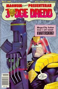 Cover Thumbnail for Judge Dredd (Atlantic Förlags AB, 1991 series) #5/1991