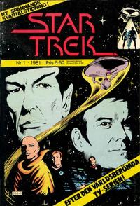 Cover Thumbnail for Star Trek (Atlantic Förlags AB, 1981 series) #1/1981