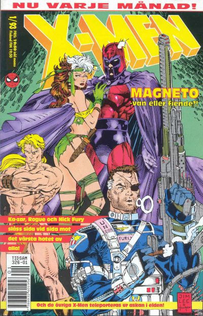 Cover for X-Men (SatellitFörlaget, 1990 series) #1/1993
