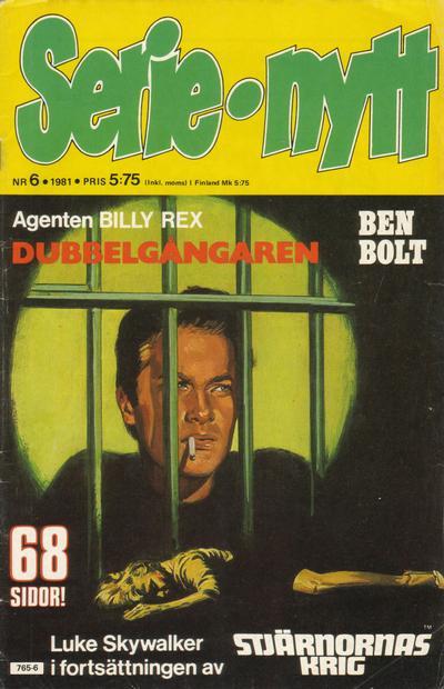 Cover for Serie-nytt [delas?] (Semic, 1970 series) #6/1981