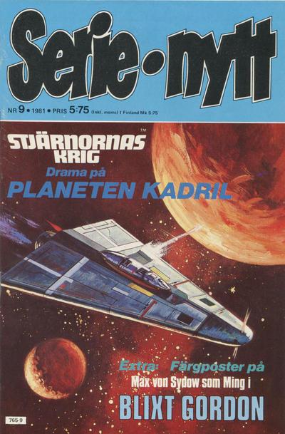 Cover for Serie-nytt [delas?] (Semic, 1970 series) #9/1981
