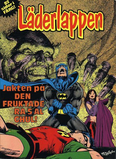 Cover for Läderlappen [album] [Jakten på den fruktade Ras al Ghul] (Semic, 1979 series) #[nn]
