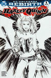 Cover for Harley Quinn (DC, 2016 series) #1 [Most Good Hobby Eric Basaldua Black and White Cover]