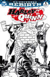 Cover for Harley Quinn (DC, 2016 series) #1 [Comic*Pop Collectibles Mike Allred Black and White Cover]