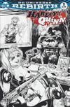Cover for Harley Quinn (DC, 2016 series) #1 [Heroes & Fantasies Tyler Kirkham Black and White Cover]